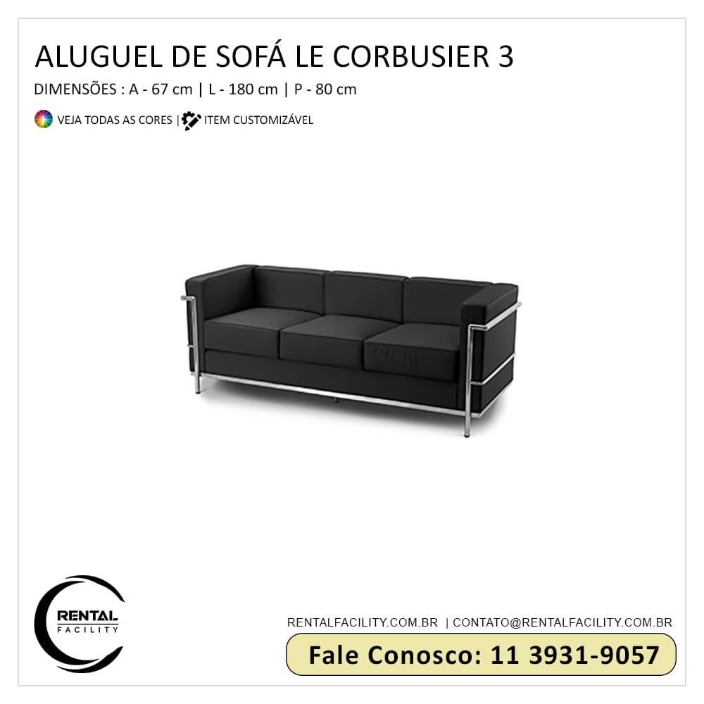 Aluguel de Sofás Le Corbusier LC3