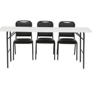 Aluguel de Mesas Pranchão de Madeira com Cadeiras