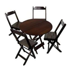 Aluguel de Mesas e Cadeiras Redondas em Madeira – Dobrável