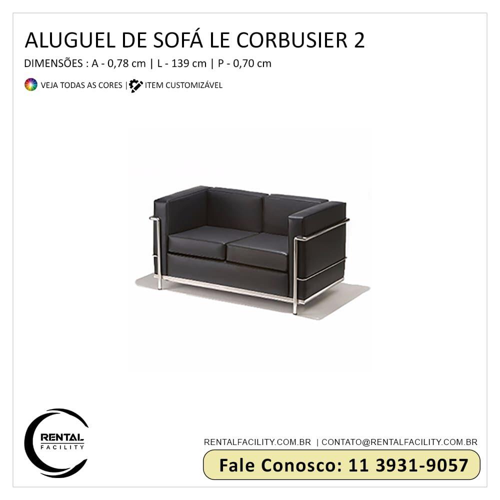 Aluguel de Sofás Le Corbusier LC2