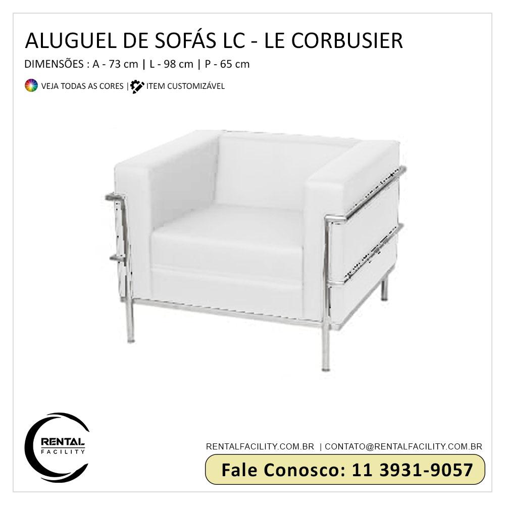 aluguel de sofá lc le corbusier branco