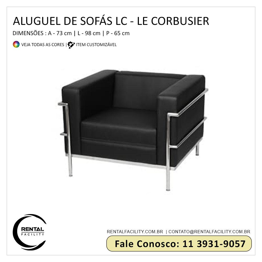 Aluguel de Sofás LC Le Corbusier Preto