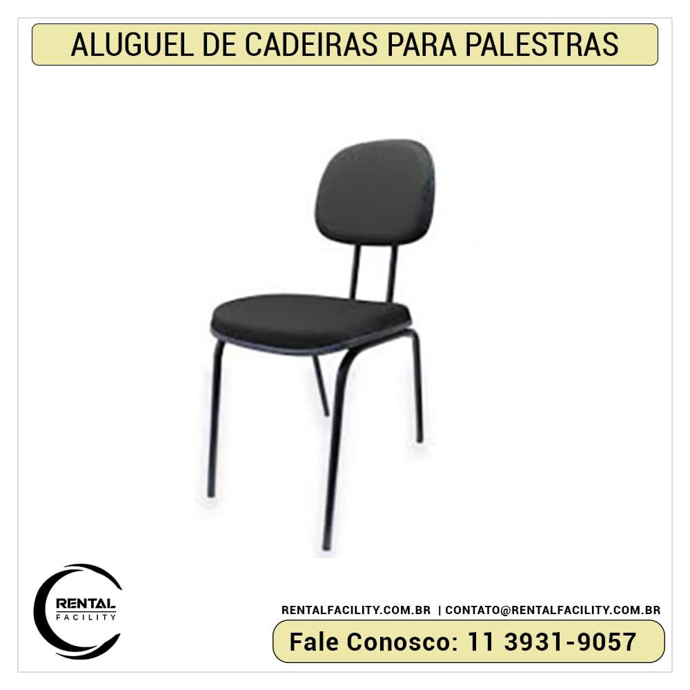Aluguel de cadeiras para auditório palito