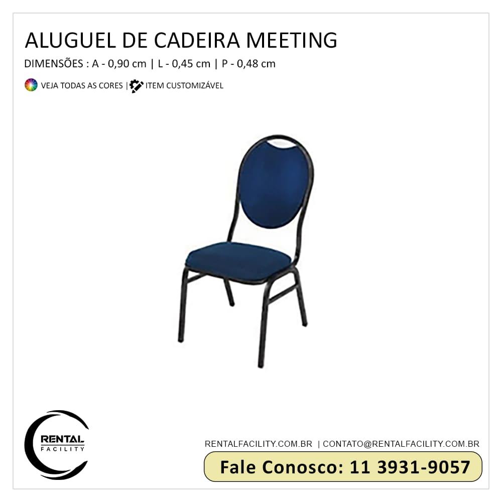 aluguel cadeiras para auditório meeting azul