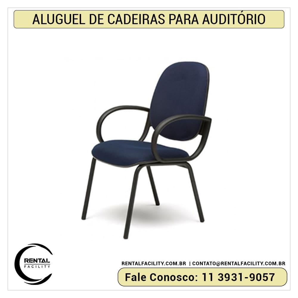 Aluguel de cadeiras para auditório e congressos