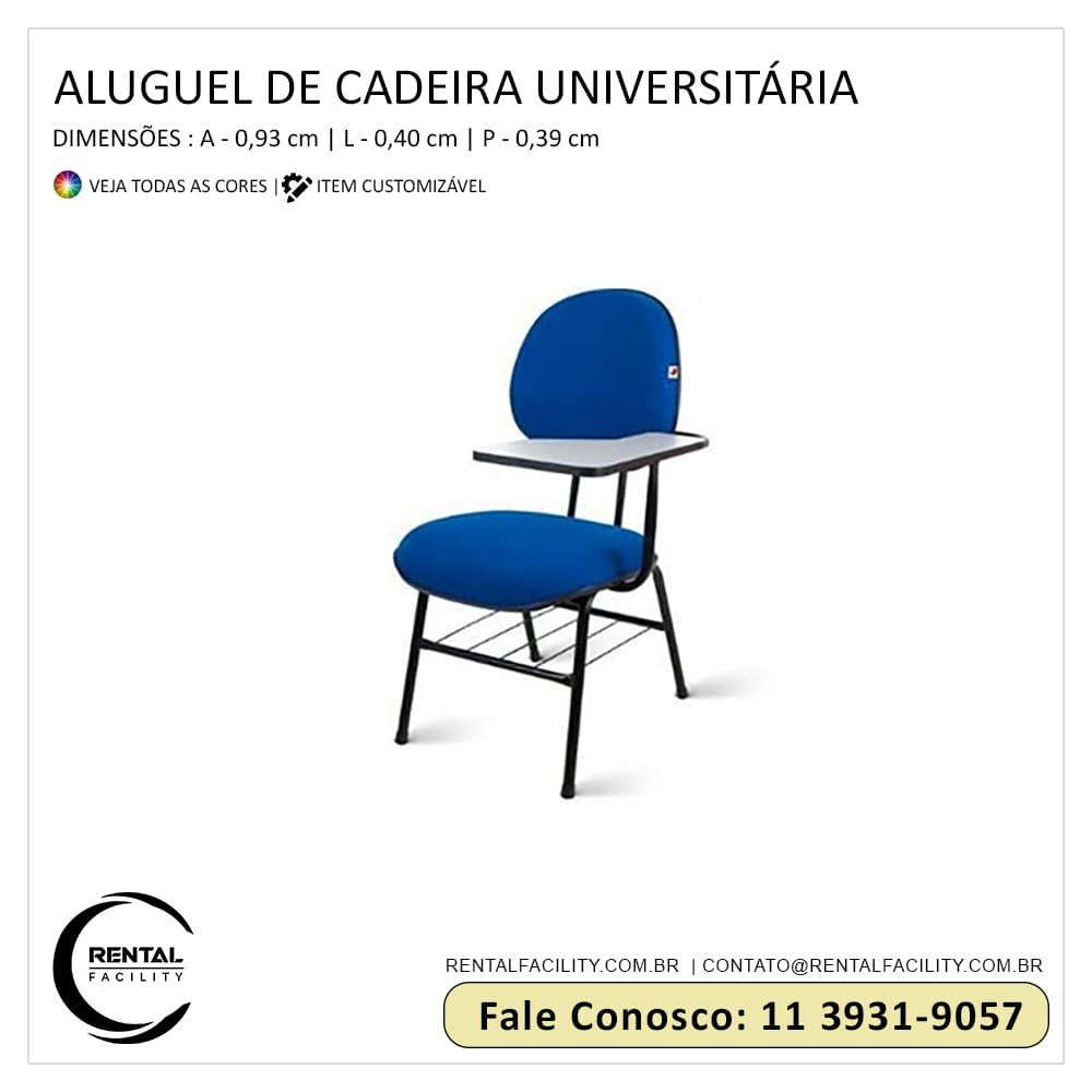 Aluguel de Cadeiras Universitárias - Aluguel de cadeiras para treinamentos