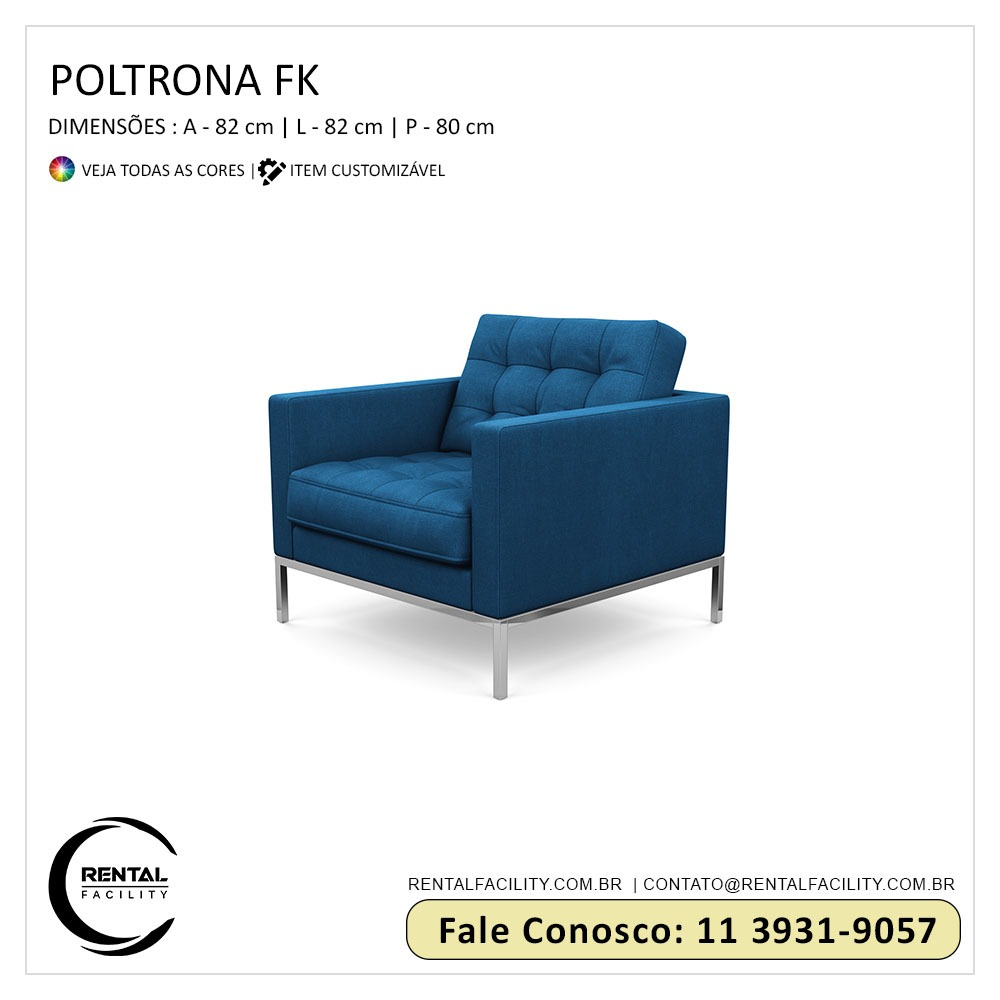 Aluguel de Poltronas FK Azul