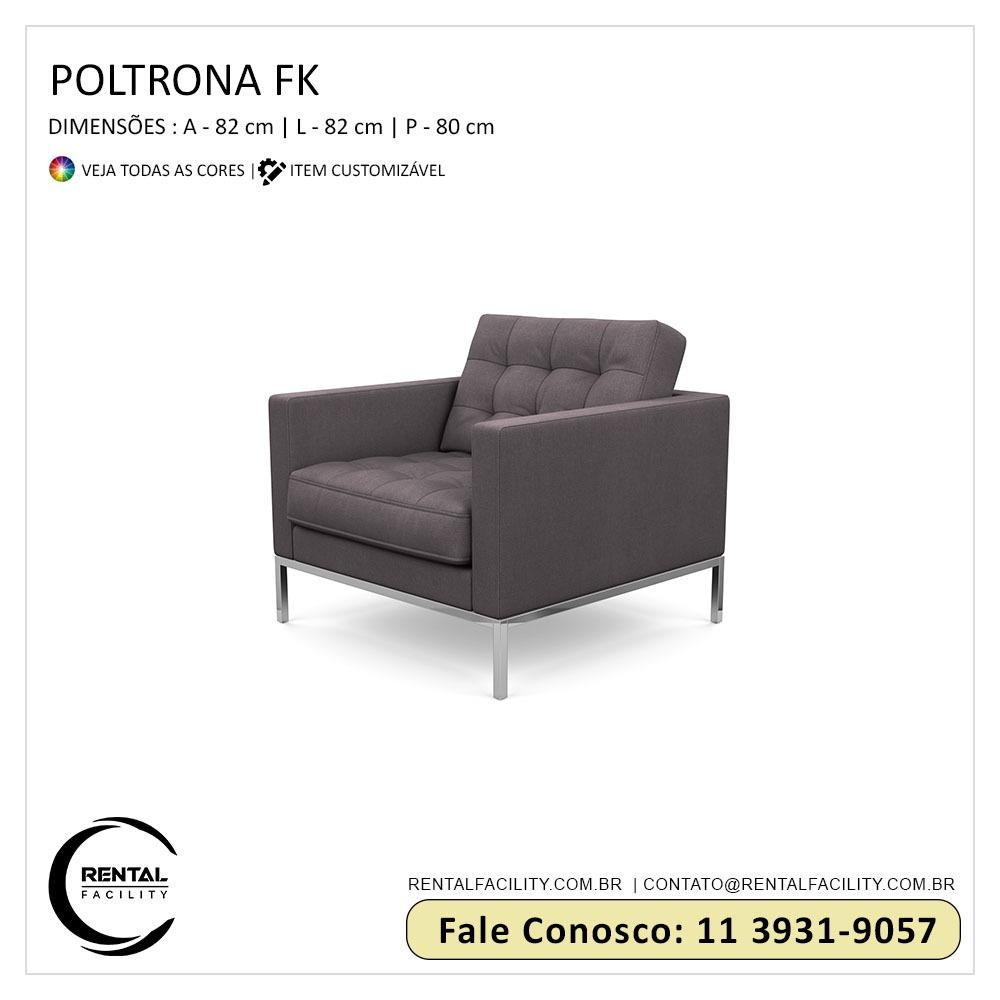 Aluguel de Poltronas FK Cinza